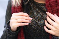 Merci à Margot du blog You Make Fashion, Pull à paillette vintage NAF NAF