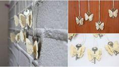 Rustikální motýlci snadno a rychle ze starých klíčů a knih, novin či notového sešitu