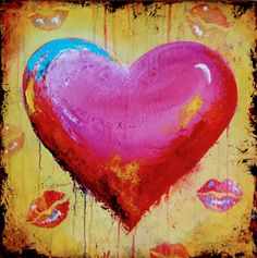 Original paintings by Tina Palmer. Working with fine art galleries across the U. Heart Images, French Kiss, Heart Art, Fine Art Gallery, Art For Kids, First Love, Original Paintings, Valentines, Hearts