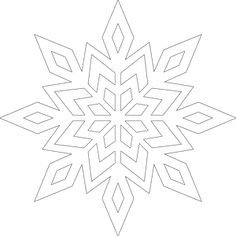 Zimowe witraże - Pastelowe Kredki Wooden Snowflakes, Christmas Snowflakes, Christmas Art, Snowflake Template, Crochet Snowflake Pattern, Applique Patterns, Craft Patterns, Snowflake Drawing Easy, Snowflake Coloring Pages
