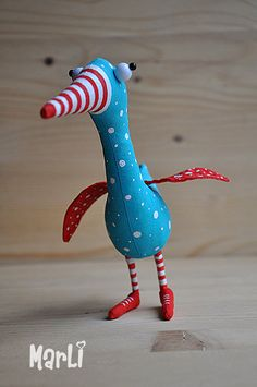 The April bird by MarLitoys on Etsy