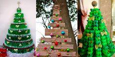 Cette année, et si on réalisait un sapin fait de matériaux recyclés ? 30 idées à découvrir ! Gingerbread, Presentation, Christmas Ornaments, Holiday Decor, Inspiration, Recherche Google, Alternative, Home Decor, Christmas Is Coming