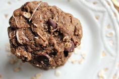 Coconut Oatmeal Chocolate Chip Cookies(with coconut oil, coconut, flour, and cocoa)