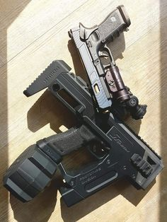 I'm not really a Glock guy, but this might change my mind. I'm not really a Glock guy, but t Survival Weapons, Weapons Guns, Guns And Ammo, Airsoft, Glock Mods, Custom Guns, Military Guns, Cool Guns, Paintball