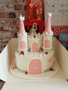 Princess castle cake for my niece