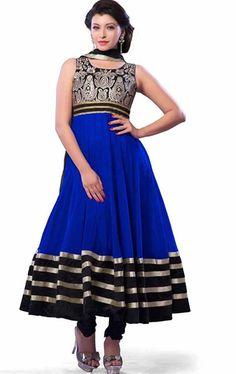 Picture of Charming Royal Blue Anarkali Salwar Kameez