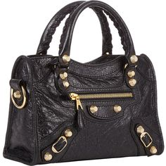 4493bcf029 Balenciaga Arena Giant 12 Mini City ($1,395) ❤ liked on Polyvore Studded  Handbags,
