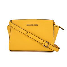 Michael Kors Selma Messenger Medium Yellow Crossbody Bags The New Desine Is Fit For Everyone. Just Go To Buy Now.