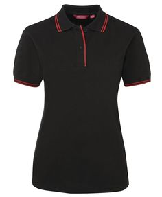 Code: 2LCP Name: Ladies Contrast Polo 2LCP  Size: 8|10|12|14|16|18|20|22|24  Available Colours: Black | Red | Orange | White | Gold | Navy | Bottle | Marle |