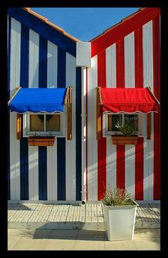 Beach houses in Costa Nova-Aveiro #Portugal