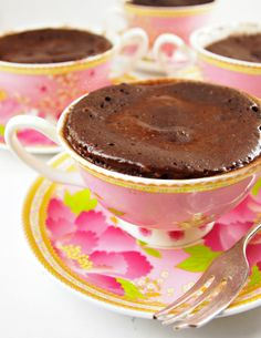 Beach cottage Recipe : Chocolate Cake in a Cup « Coastal Vintage Shop, Beachy & Coastal Decorating Coastal Vintage Shop, Beachy & Coastal Decorating Mug Recipes, Cake Recipes, Dessert Recipes, Recipies, Chocolate Recipes, Chocolate Cake, Molten Chocolate, Chocolate Pudding, Just Desserts