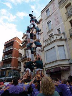 Castellers de Caldes - 4d7 - Caldes de Montbui 16-09-2012