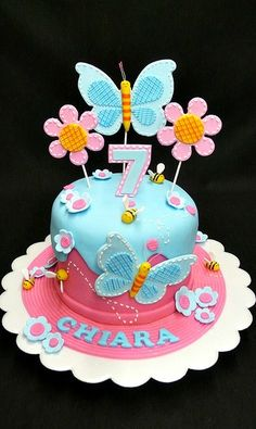 Cake Decorated With Flowers And Butterflies : Butterfly cake!!! Donot forget butterfly personalized ...