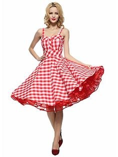 This swing dress has a really full circle skirt. 100% cotton. Classic and iconic style that will never be out of fashion.