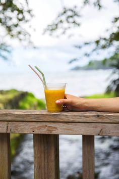 Voyage à La Reunion - Jus de fruits exotique à Anse des Cascades