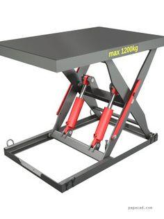 Drawings Hydraulic scissor table lifter 1200kg