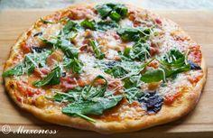 Пицца с беконом из тонкого теста