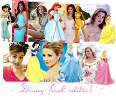 """""""Disney Look alikes"""" by iheartkittys ❤ liked on Polyvore"""