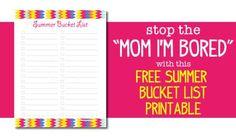 Download Free Summer Bucket List template