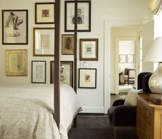 wood frames, art, collection @andrewbrowninteriors