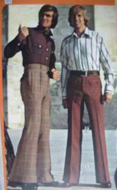 1960's men's fashion also changed. Suits had more patterns, more color, ties are more elaborate, and neutral colors are not so much the norm. Button down shirts are widely used, pants change to bell bottoms, hair becomes longer and not as preppy, and clothing is a bit tighter.