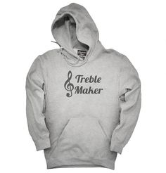 """You can order this """"Treble Maker Clef Musical Trouble Maker"""" t-shirt on several different sizes, colors, and styles of shirts including short sleeve shirts, hoodies, and tank tops.Each shirt is digitally printed when ordered, and shipped from Northern California."""