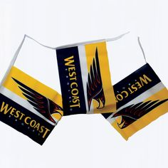 West Coast Eagles Bunting $20 West Coast Eagles, 3c, Bunting, Party, Garlands, Fiesta Party, Buntings, Parties, Bunting Flags