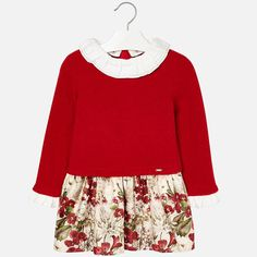 206f8fae353 Mayoral 4946 Girls Red Long Sleeve Dress