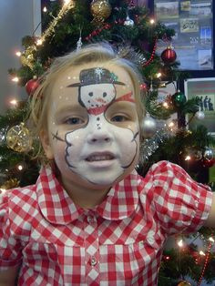 Christmas Face paint by tinks faces, via Flickr