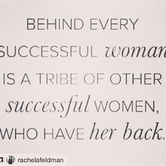 behind every successful woman is a tribe of other successful women who have her back #amazingwomen #awen #ladyboss #boss #success #onlinebusiness #women  #Regram via @amazingwomenofinfluence