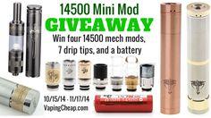 Enter to win a Mini Mod Prize Pack at http://vapingcheap.com