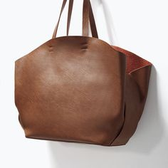 Image 3 of SHOPPER BAG WITH CONTRAST INTERIOR from Zara
