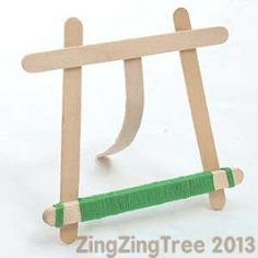 These craft Stick, lolly stick or even Popsicle stick easels are another simple and beautiful way display small photo's and pictures.