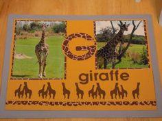 G for Giraffe - Scrapbook.com