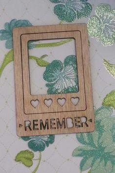 Wood photo frames- heart, remember