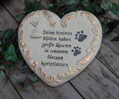 Katze: Halsbänder - Tiergedenkstein, Katze Gedenkstein, Grabschmuck - ein…