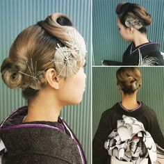 """Ayumi Amano on Instagram: """"常連さんの彼女。 成人式前にボブに切っちゃったけど、アップしているように 彼女はお任せでいつもやらせてくれるから 人とかぶらなそうなピンを使ったクラシックにしてみました。 #クラシックスタイル #ピンアップ #ピンアレンジ #フィンガーウェーブ この前髪お気に入り…"""" Paper Dolls Clothing, Beauty Makeup, Hair Beauty, Hair Arrange, Hair Setting, Christmas Hair, Japanese Outfits, Hair Looks, Wedding Hairstyles"""