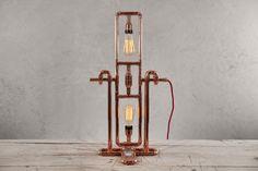 Lámpara de mesa de cobre de ROTO por Zapalgo en Etsy