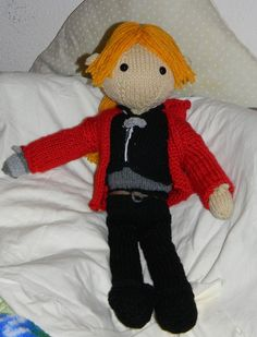 Edward Elric Knitted Doll