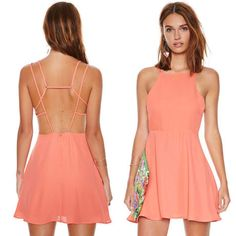 sexy crossed strapped backless with lining women short chiffon dress for wholesale and free shipping haoduoyi  $18.50