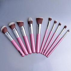 Beauté 10 pcs pinceau de maquillage Set Outils laine de maquillage Make Up Rose SV003637 – EUR € 18.90