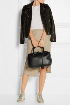 Golden Goose Deluxe Brand | Equipage small textured-leather tote | NET-A-PORTER.COM