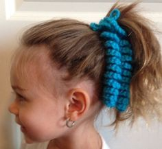 crochet ponytail hair tie curly q by diecutscraftsandmore on etsy 250