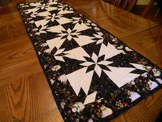 Christmas Table Runner, Hunters Star Snowmen by CraftsandQuiltStudio on Etsy
