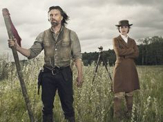 Still of Anson Mount and Dominique McElligott in Hell on Wheels