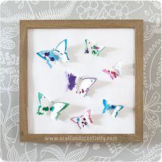 3D paper butterflies - by Craft & Creativity butterflies - by Craft & Creativity
