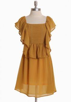 Golden Age Ruffle Chiffon Dress, on shopruche.com, Price Range: $