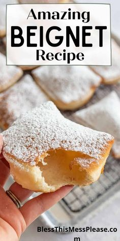 You are in for a treat with this classic New Orleans beignet recipe. Beignets are pillowy, deep fried dough, and dusted with powdered sugar. #beignets #beignetsrecipe #donuts #neworleans