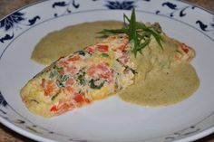Chef JD's Breakfast Cuisine: Tomato Basil Omelette with Thai Green Curry Crème