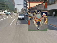 Classic paintings of world cities meet Google Street View – in pictures